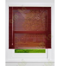 Aluminium blind maroon matt finish