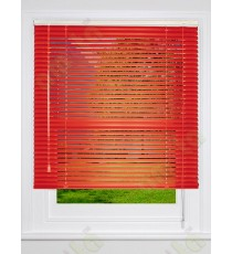 Aluminium blind red matt finish