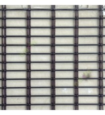 Brown color horizontal stripes transparent flat scale and cylinder stick with vertical thread stripes rollup mechanism PVC Blinds