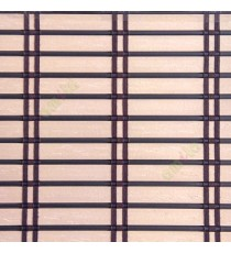 Dark brown beige color horizontal stripes flat scale vertical thread stripes cylinder stick rollup mechanism PVC Blinds