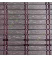 Dark brown color horizontal stripes flat scale vertical thread stripes cylinder stick rollup mechanism PVC Blinds