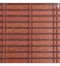 Brown color horizontal stripes flat scale vertical thread stripes cylinder stick rollup mechanism PVC Blinds