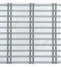 Pure white color horizontal stripes flat scale vertical thread stripes cylinder stick rollup mechanism PVC Blinds