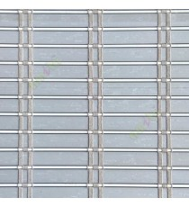Grey white color horizontal stripes flat scale vertical thread stripes cylinder stick rollup mechanism PVC Blinds