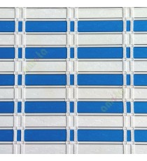 Blue white color horizontal stripes flat scale vertical thread stripes cylinder stick rollup mechanism PVC Blinds