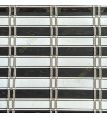 Brown white color horizontal stripes flat scale vertical thread stripes cylinder stick rollup mechanism PVC Blinds