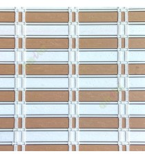 Beige white color horizontal stripes flat scale vertical thread stripes cylinder stick rollup mechanism PVC Blinds