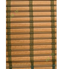 Rollup mechanism brown color with brown thread stripes PVC blind