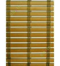 Rollup mechanism brown and white brown stripes  PVC blind