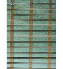Rollup mechanism green with brown stripes PVC blind