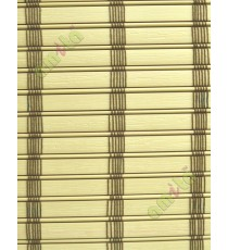 Rollup mechanism beige color with brown stripes PVC blind