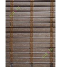 Rollup mechanism brown color with stripes PVC blind