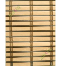 Rollup mechanism peach with brown stick thread stripes PVC blind