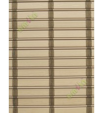 Rollup mechanism beige color with brown stripes color PVC blind