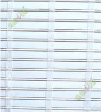 Rollup mechanism white with stripes color PVC blind