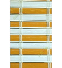 White and yellow color stripes PVC blinds