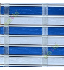 White and blue color stripes PVC blinds