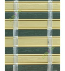 Beige and green color with white stripes PVC blinds