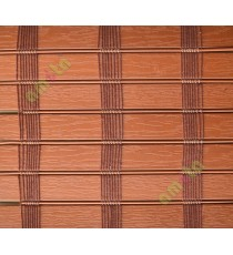 Brown color stripes PVC balcony and kitchen blind