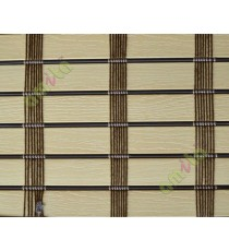 Beige color with brown stripes balcony and kitchen PVC blind