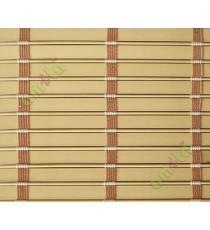 Beige with brown color stripes PVC blind