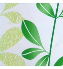 Natural beautiful bright green white color hanging plants long tendril leaf pattern roller blind