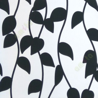 Black And White Color Leafy Pattern Vertical Hanging Trendy Lines
