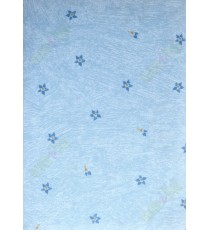 Blue yellow white color painting with small floral poly blackout roller blind   109391