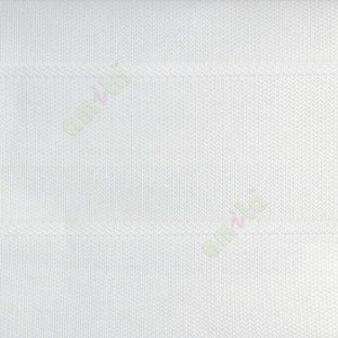 Pure white color horizontal stripes double layer texture background triple shade blind