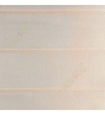 Beige color horizontal stripes double layer texture background triple shade blind