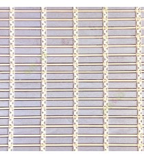Grey beige cream color horizontal stripes wooden slats with sticks vertical thread weaving stripes rollup chain roman chain and lock pulley system blinds