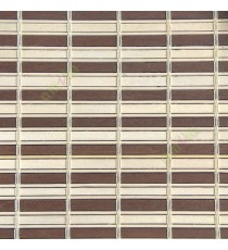 Brown beige color horizontal stripes wooden slats with sticks vertical thread weaving stripes rollup chain roman chain and lock pulley system blinds