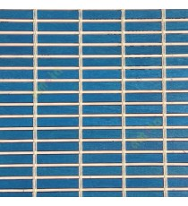 Blue beige cream color horizontal stripes wooden slats with sticks vertical thread weaving stripes rollup chain roman chain and lock pulley system blinds