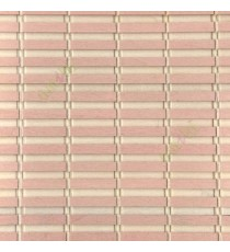 Baby pink cream color horizontal stripes wooden slats with overlapping sticks vertical thread weaving stripes rollup chain roman chain and lock pulley system blinds