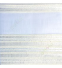 Beige white color horizontal stripes with transparent net fabric embossed pattern textured finished background zebra blind