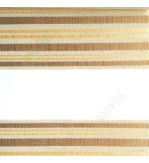Gold beige color horizontal stripes with transparent net fabric embossed pattern textured finished background zebra blind