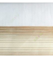 Beige cream color horizontal stripes textured finished background with transparent net fabric zebra blind