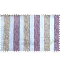 White purple yellow vertical bold stripes poly main curtain designs