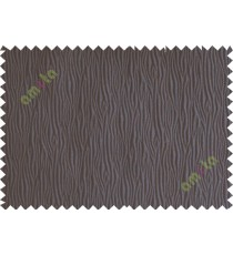 Chocolate brown vertical self colour stripes poly main curtain designs
