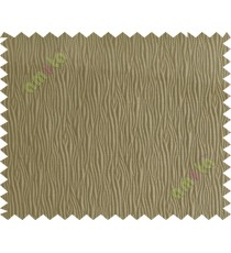 Brown vertical self colour stripes poly main curtain designs