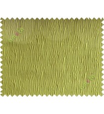 Green vertical self colour stripes poly main curtain designs