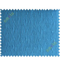 Blue vertical self colour stripes poly main curtain designs
