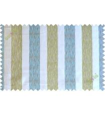 Blue white green vertical bold stripes poly main curtain designs