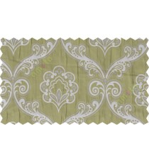 Green silver motiff poly main curtain designs