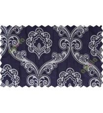Indigo silver motiff poly main curtain designs