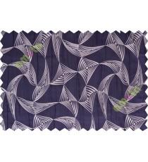 Indigo grey star poly main curtain designs