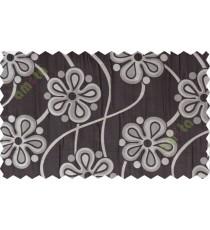 Chocolate brow motif poly main curtain designs