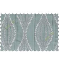 Grey blue serpentine stripes poly main curtain designs