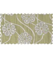 Green silver grey motif poly main curtain designs