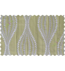 Grey green serpentine stripes poly main curtain designs
